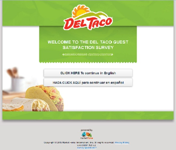 myvisit.deltaco.com | My Visit Del Taco Feedback Survey