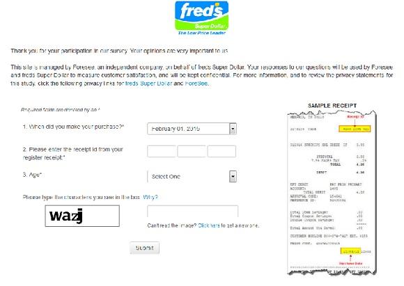 www.fredsinc.com/survey | Fred's Super Dollar Sweepstakes Survey