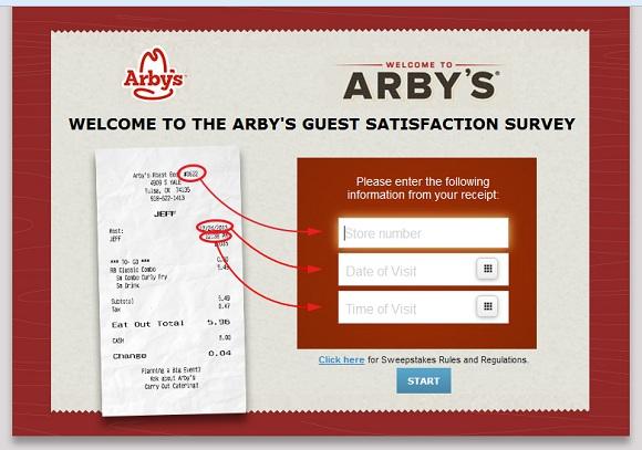 www.myarbysvisit.com | Win A $500 Gift Card Survey