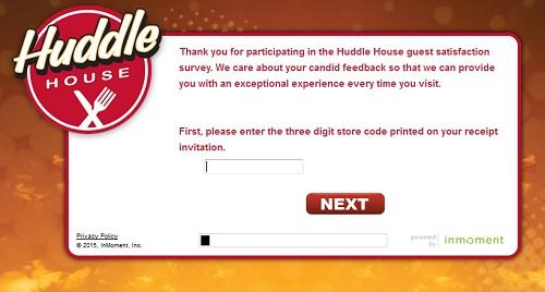 www.huddlecares.com | Huddle House Coupon Survey