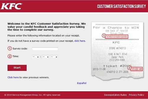 www.mykfcexperience.com – KFC Free Go Cup & $1000 Cash Survey