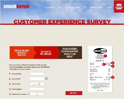 www.smashburgersurvey.com | Smashburger Win $1000 Daily