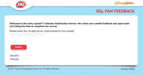 www.dqfansurvey.com | Dairy Queen Free Validation Code Survey