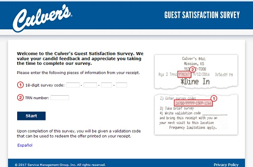 Culver's Survey – www.TellCulvers.com – WIN Free Dessert