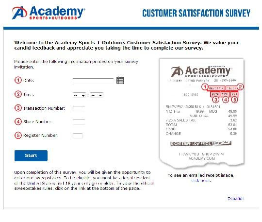 www.academyfeedback.com | Win $1000 Cash Academy Feedback Survey
