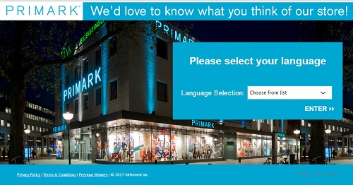 www.tellprimark.co.uk | Win £1,000 Primark Sweepstakes Survey