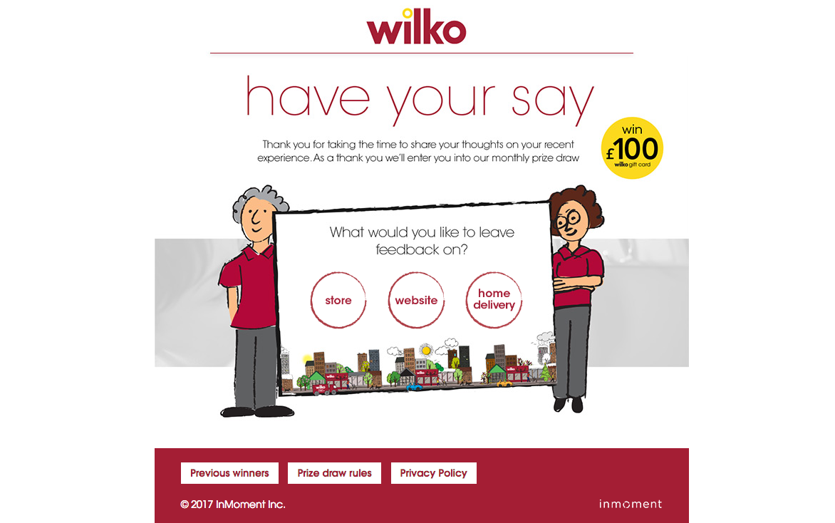 Wilkohaveyoursay wilkos survey win 100 gift card how to win 100 gift card in wilkos survey wilkohaveyoursay negle Choice Image