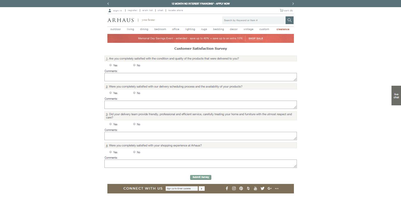 www.arhaus.com/survey