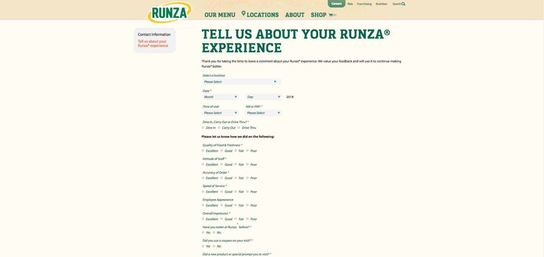 www.runza.com/survey