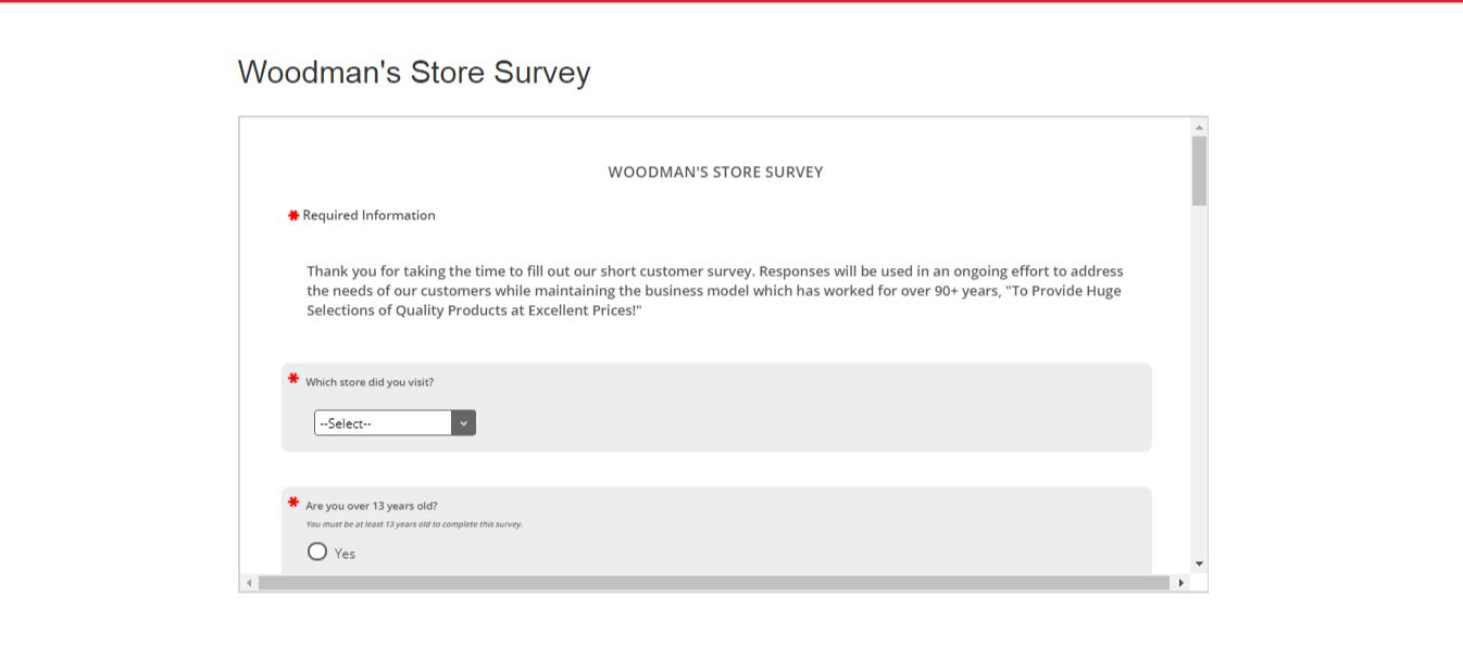 www.woodmans-food.com/survey