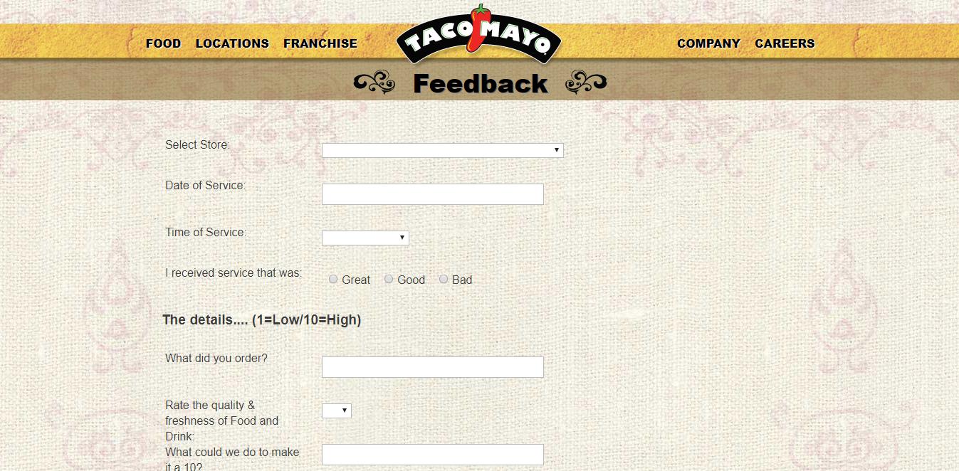 www.tacomayo.com/feedback