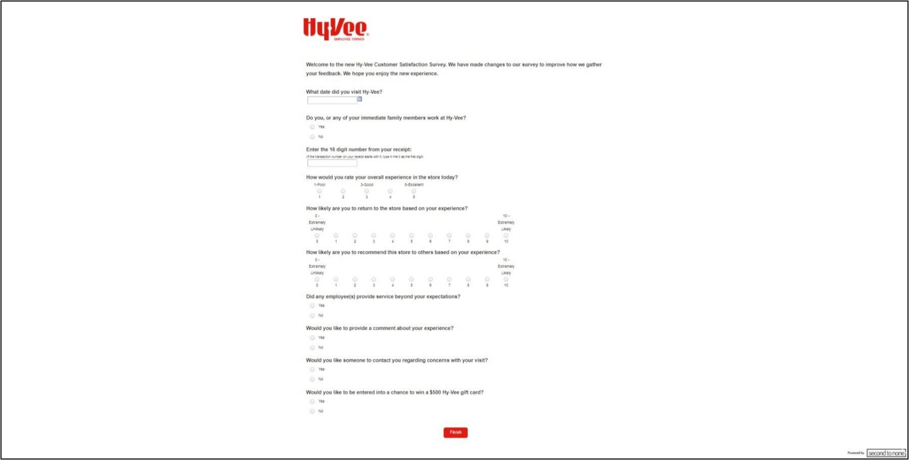 HyVeeSurvey.Second-To-None.com