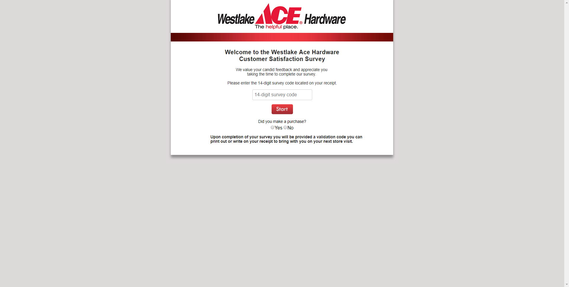 acehardwarewestlake.survey.marketforce.com