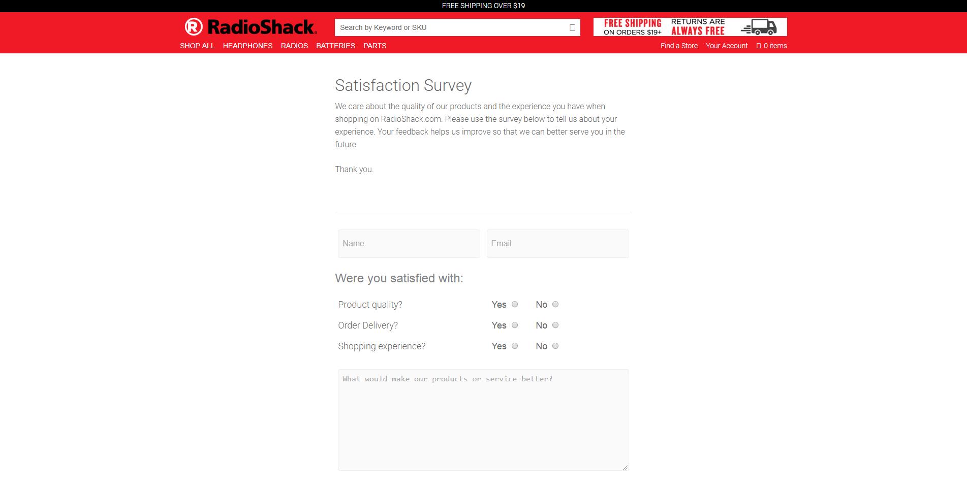 www.radioshack.com/pages/satisfaction-survey