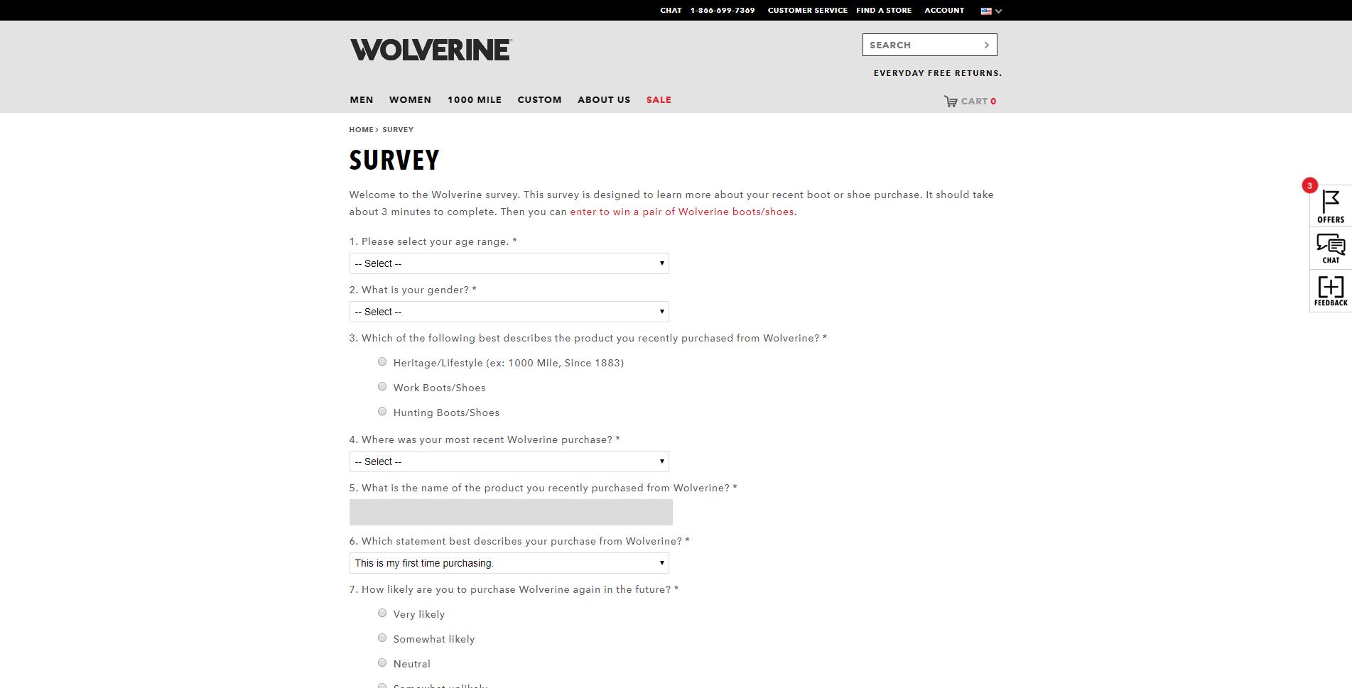 www.wolverine.com/US/en/survey