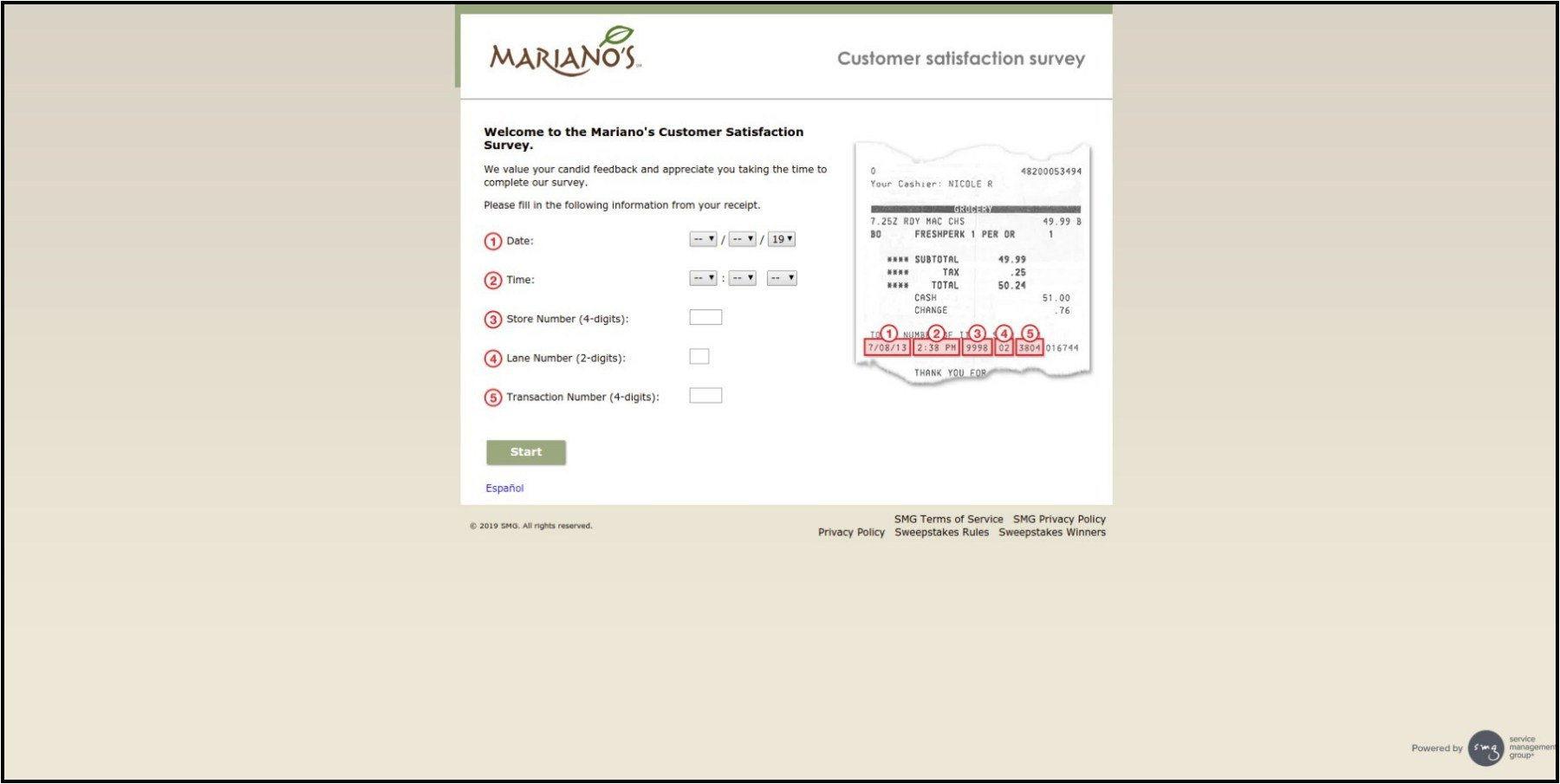 www.MarianosExperience.com